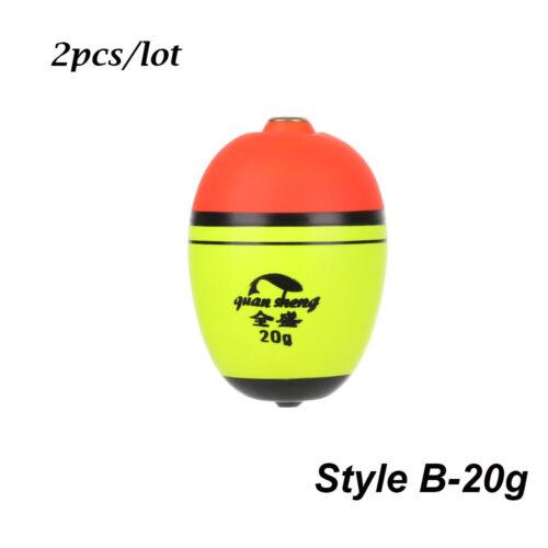 2pcs//lot Hot Long//oval Plastic Cat fish Eva Foam Bobber Ball Boia Fishing Float