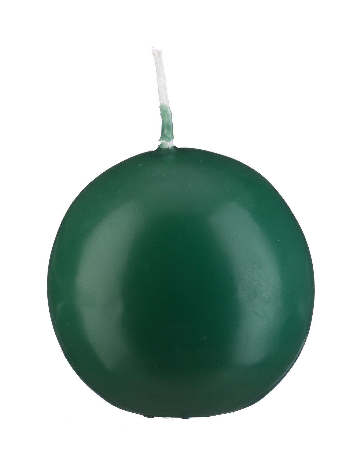 CANDELE a SFERA verde, selezione da 8 dimensioni, dt. qualità di marca CANDELE, Candele rossoonde