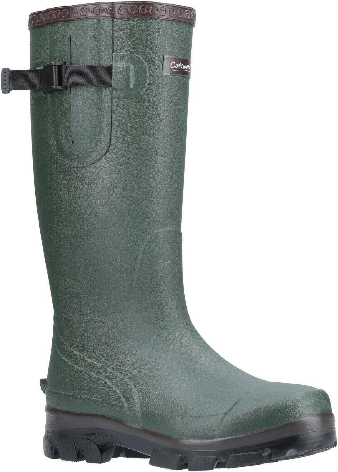 Cotswold Grange green neoprene adjustable wellington boot