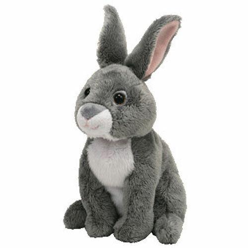 TY Beanie Baby - ORCHARD the Grey Bunny Rabbit (7 inch) - MWMTs Stuffed Animal