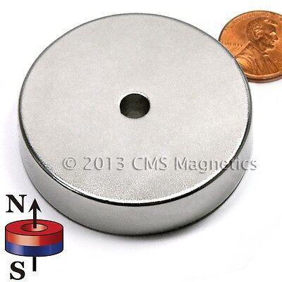 "Neodymium Magnets N42 2""ODx.25""IDx0.5""H NdFeB Rare Earth Ring Magnet Lot 2"