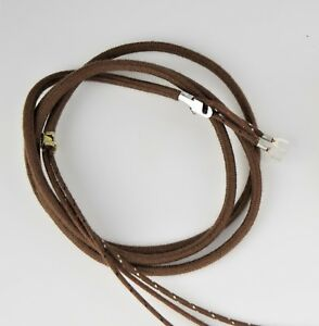 Antique Cloth Wire | Vintage Antique Cloth Covered Telephone Cord Handset Brown Sku