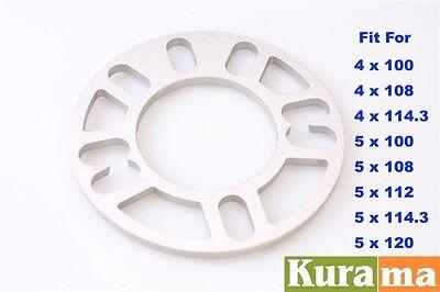 Wheel Spacer Adaptor 8mm thin 5x100 5x114 5x120 5x108 2PCS Fit Hyundai