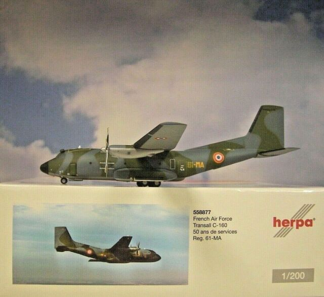 Herpa Wings 1:200 Transall C-160 French Air Force 61MA 558877 Modellairport500