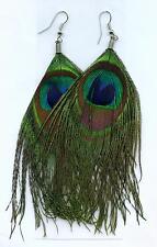 Ohrhänger Pfauenfeder Earrings Ohrringe Feder Indianer Western