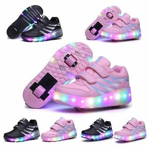 Details about 2019 LED Wheel Shoes Kids Girls Boys Led Light UP Roller  Skate Sneakers Shoes