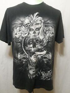 Sullen-Art-Collective-T-Shirt-Artist-Ivan-2011-Black-Mens-Size-Large-EUC