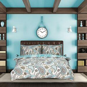 Ropa-de-cama-de-edredon-Paisley-verde-azulado-edredon-individual-doble-king-moderno-juego-fundas-de