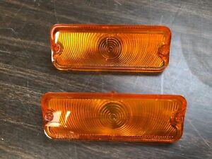 1964 64 Chevy Impala Belair Biscayne Parking Light Lens Pair Amber