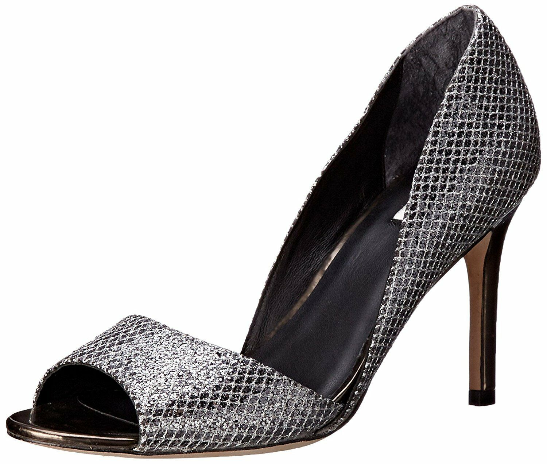 Cole Haan Haan Haan para mujer Antonia Puntera Abierta d 'Orsay pump, Plata gris plomo Brillo Oscuro  saludable