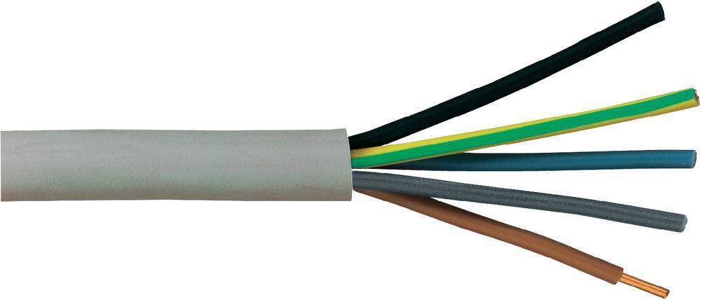 NYM InsGrößetionskabel Mantelleitung NYM-J 5x1,5mm², grau, Menge wählbar | Qualität zuerst