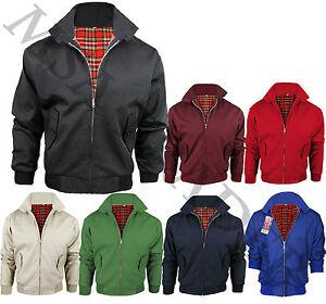 Mens-Branded-New-Classic-Vintage-Trendy-Jacket-1970s-Bomber-Harrington-Coat-Top