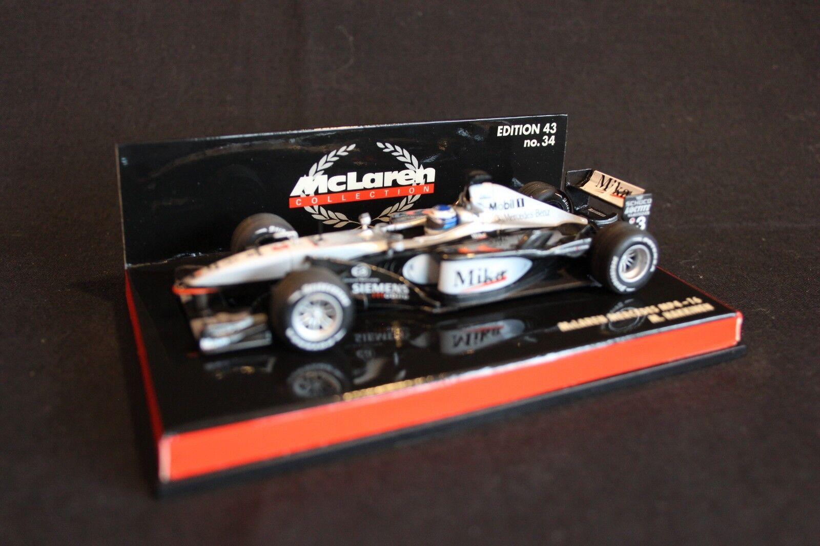 Minichamps McLaren Mercedes MP4-16 2001 1 43  3 Mika Hakkinen (FIN)