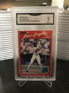 1990-Donruss-Juan-Gonzalez-33-Rated-Rookie-Reverse-Error-GMA-7-NM
