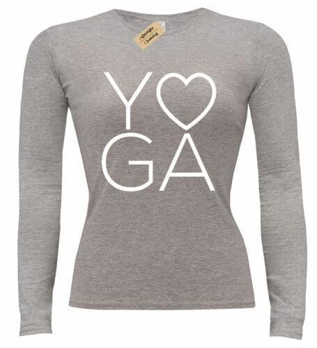 Damen Yoga Liebe T-Shirt Fitness Training Fitness Langärmelig Damen Top Geschenk