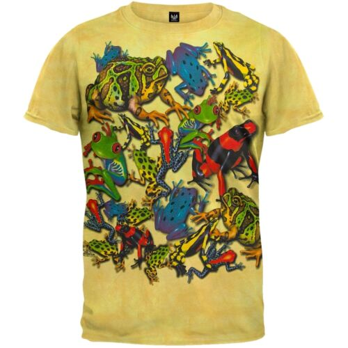 Frog Collage Adult Mens T-Shirt