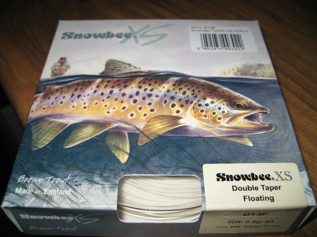Snowbee XS Double Taper Ivory Floating DT3 Trout  Fly Line  popular
