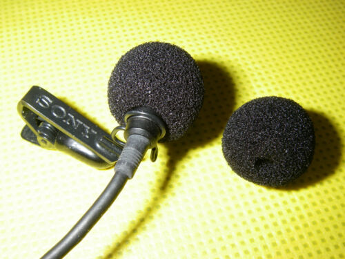 12 X  Lavalier Microphone Foam Windscreens for Sony   ECM77   ECM88    ADC77