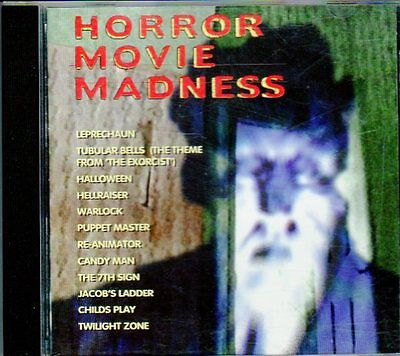 HORROR MOVIE MADNESS: RARE ORIGINAL CLASSIC 1995 K-TEL HALLOWEEN EDITION CD! OOP