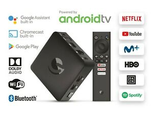 Engel EN1015K, Android TV Box 4K UHD, Asistente de Google Chromecast, Smart TV