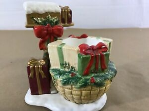 Yankee-Candle-Christmas-Holiday-Candle-Holder-Presents-Mailbox-I9