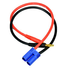 4mm EC3 Male TO 4mm Banana Bullet Plug Charge Charging Cable For Lipo Battery