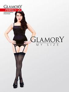 GLAMORY-PERFECT-20-Strapsstruempfe-Gr-40-62-schwarz-rot