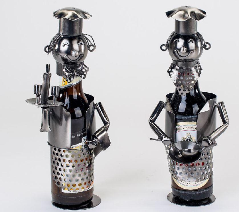 614254 2 Pièces Bière Range-Bouteilles Cuisinier & Usé 26cm Paire