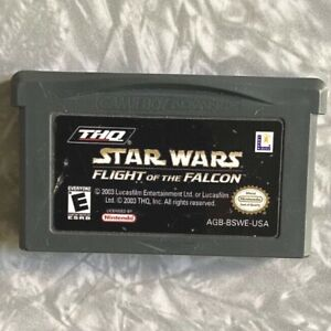 Star-Wars-Flight-of-the-Falcon-Nintendo-Gameboy-Advance-Cleaned-amp-TESTED-GBA
