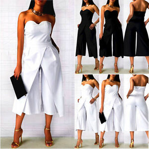 45a3e6ac7d Image is loading NEW-Women-Ladies-Clubwear-Summer-Playsuit-Bodycon-Party-