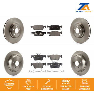 Front-Rear-Disc-Rotors-amp-Ceramic-Brake-Pads-Fits-Ford-Edge-Lincoln-Continental