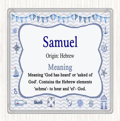 Samuel Name Meaning Drinks Mat Coaster Nautical | eBay