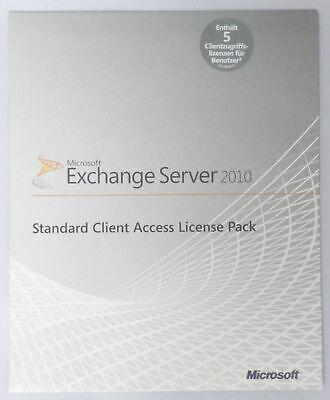 Servers, Development & Dbms Clever 5 User Benutzer Cal Für Microsoft Exchange Server 2010-381-04129 Software