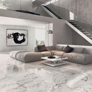 Image Is Loading Ol Arabeo White Marble Effect Matt Porcelain Wall
