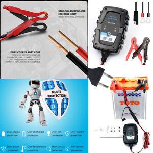 Chargeur-Batterie-Digital-Intelligent-Auto-Moto-Quad-Bateau-Voiture-1A-6V-12V