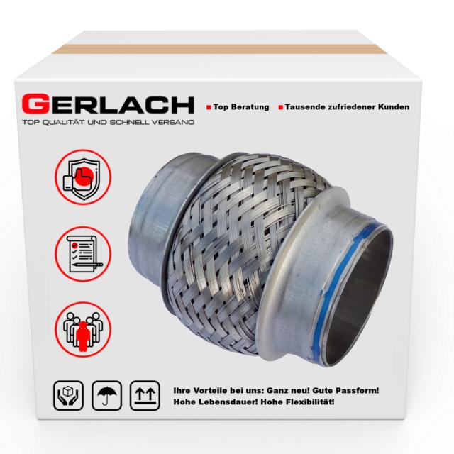 75x150 mm Flexrohr Reparatur Hosenrohr Auspuff Vorderrohr Universal Flexteil