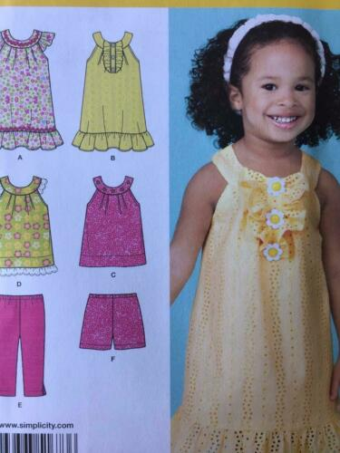 Simplicity Sewing Pattern 1673 Girls Toddlers Dress Pants Shorts Size 124 UC
