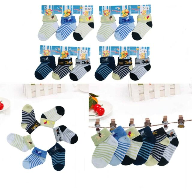 New 4 Pairs of BabyGap Socks Sz 6-12 Months Multi Color