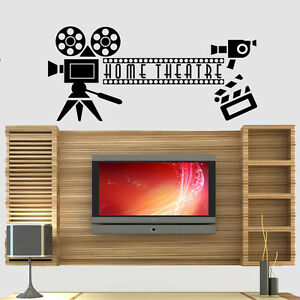 Home Cinema Theatre Film Quote Wall Art Stickers Decals Vinyl Home