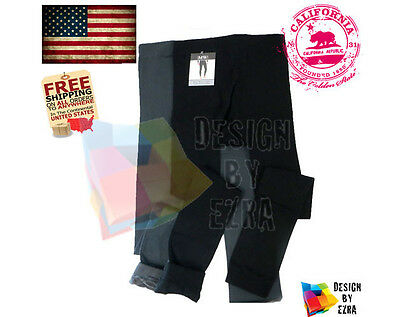 MENS THICK WARM BRUSHED LINING STRETCH FLEECE THERMAL Tights Pants BLACK Legging
