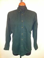 Mens WOOLRICH DUCKS UNLIMITED Large Heavy Cotton Green Shooting/Hunting Shirt