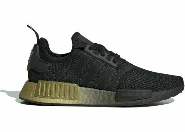 Size 6 - adidas NMD R1 Black Carbon Gold 2020