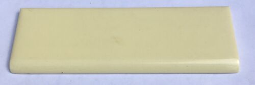 Surplus 1 Piece 2x6 Vintage Bullnose Tile in Saffron Yellow