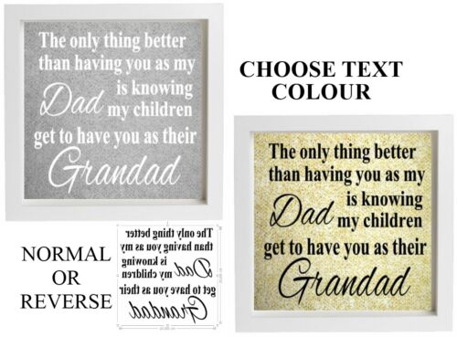 Vinyl Sticker DIY 20cm x 20cm Frame THE ONLY THING BETTER THAN HAVING A DAD/MUM