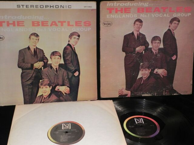 INTRODUCING THE BEATLES VEE JAY RECORDS ONE ORIGINAL PRESSING AND ONE BOOT