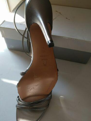 Bnib Sandalo Pewter Donna Strappy Taglia 42 Charles David Tacco Con Bpq6wBrx