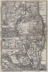Details about COPENHAGEN NORTHERN ENVIRONS. København Lyngby Gentofte  Hillerod kort 1909 map