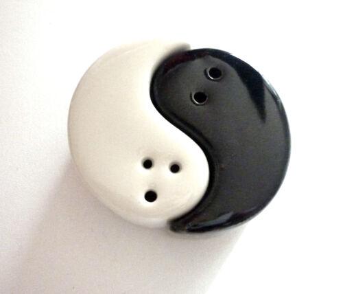 Keramik schwarz-weiß Design *OVP* #Küche Ying /& Yang Salz /& Pfeffersteuer