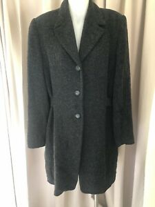 Amazing-TEHEN-France-Grey-Lined-Coat-Sz-3-Fr-Au-10-As-New-RRP-1185