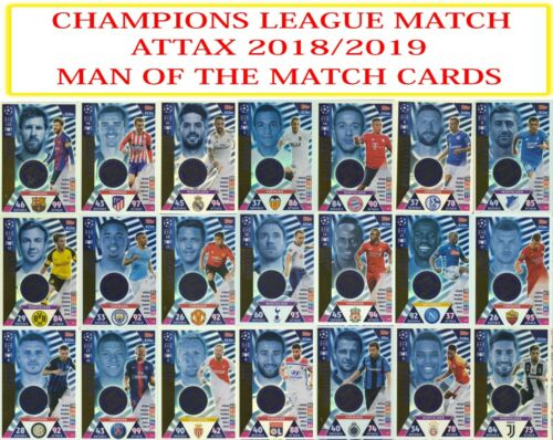 Topps champions league Match Attax 2018 2019 18 19 l/'homme du match cartes
